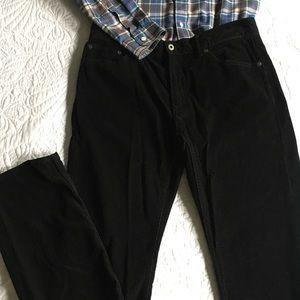 Banana Republic Corduroy Pants, Black, 33 x 34